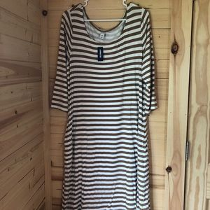 Old Navy Striped Dress with Pockets Sz Large